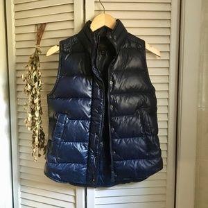 {J.Crew} 70% Down Navy Blue Puffer Vest, XXS